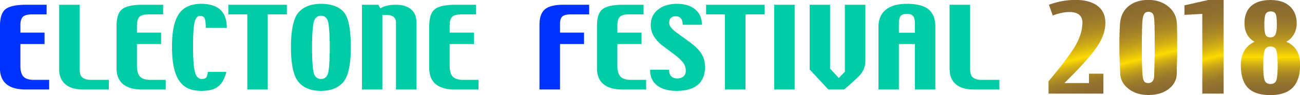 ELECTONE FESTIVALロゴ-2018